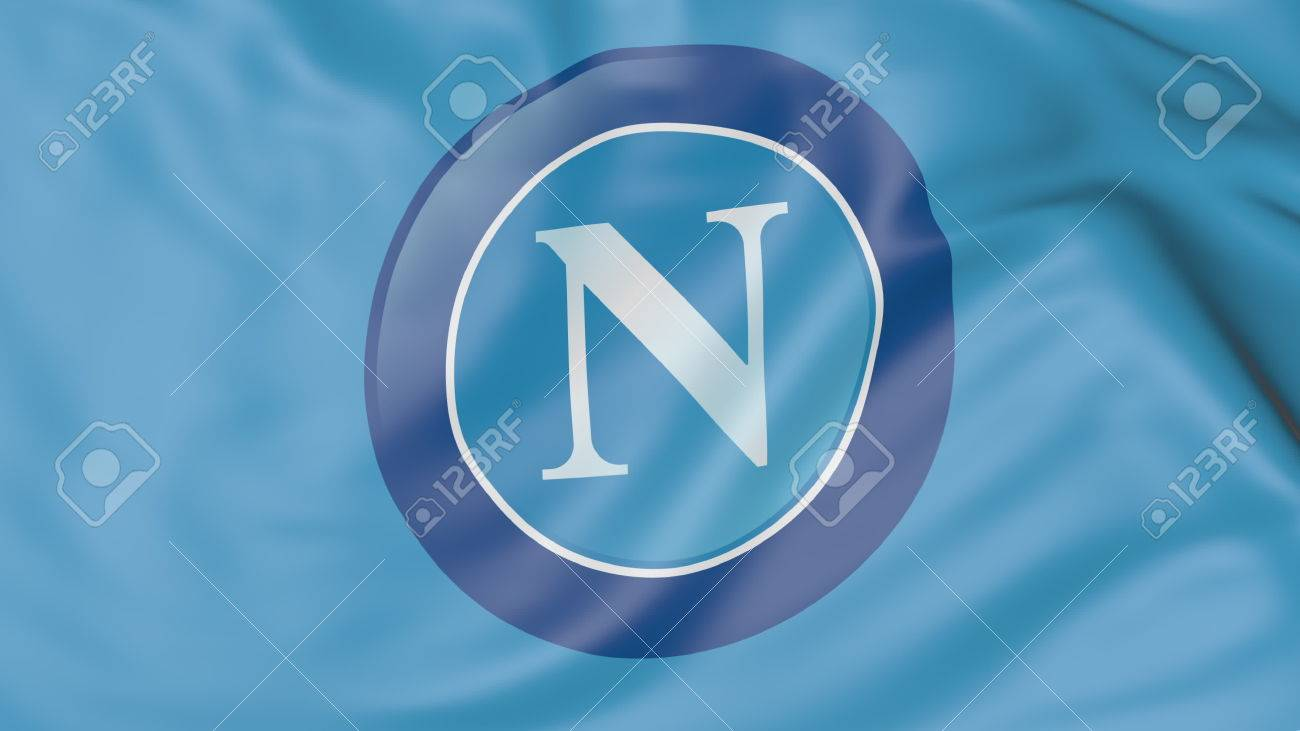 d6a80c16144 Close-up of waving flag with S.S.C. Napoli football club logo Stock Photo -  70598780