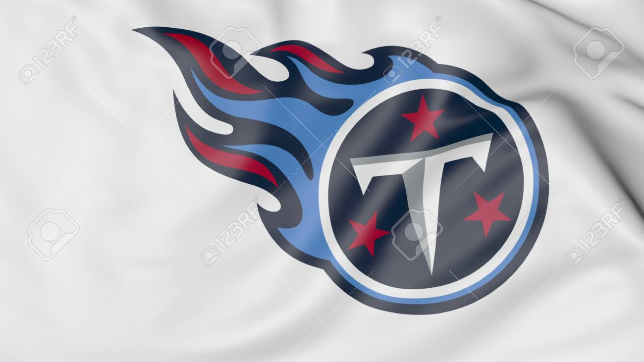 Close up of waving flag with tennessee titans nfl american close up of waving flag with tennessee titans nfl american football team logo 3d biocorpaavc