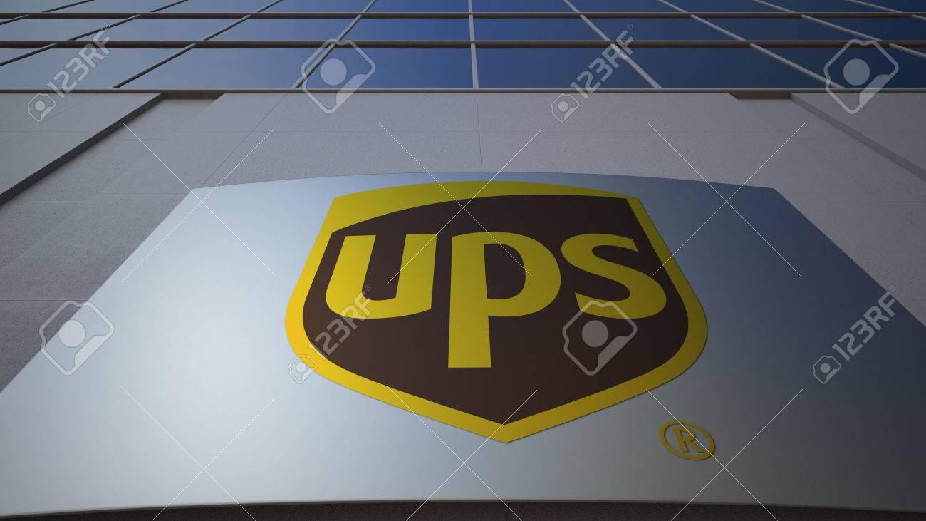 Panneau de signalisation extérieure avec logo united parcel service