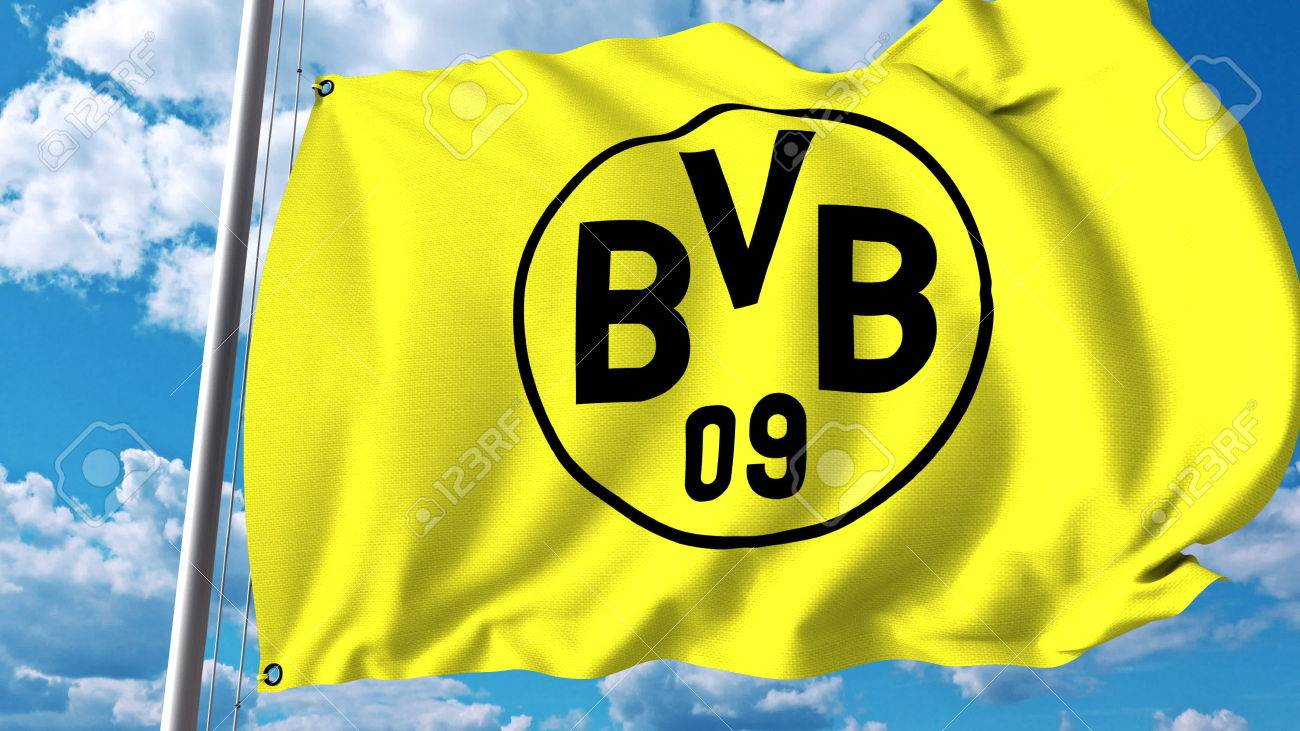 Waving flag with borussia dortmund football team logo editorial waving flag with borussia dortmund football team logo editorial 3d rendering stock photo 81254263 voltagebd Images