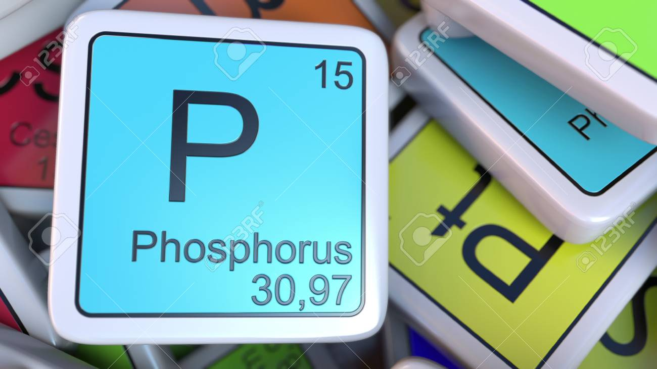 Phosphorus Block On The Pile Of Periodic Table Of The Chemical