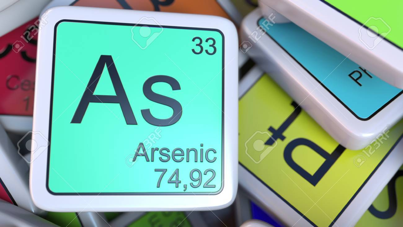 Arsenic as block on the pile of periodic table of the chemical arsenic as block on the pile of periodic table of the chemical elements blocks chemistry urtaz Images