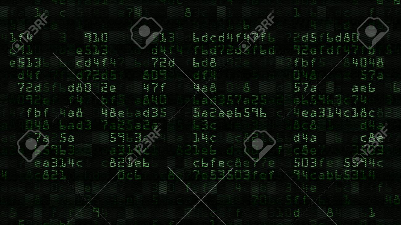 Web Word On The Screen Made Of Text And Numeric Symbols Stock Photo