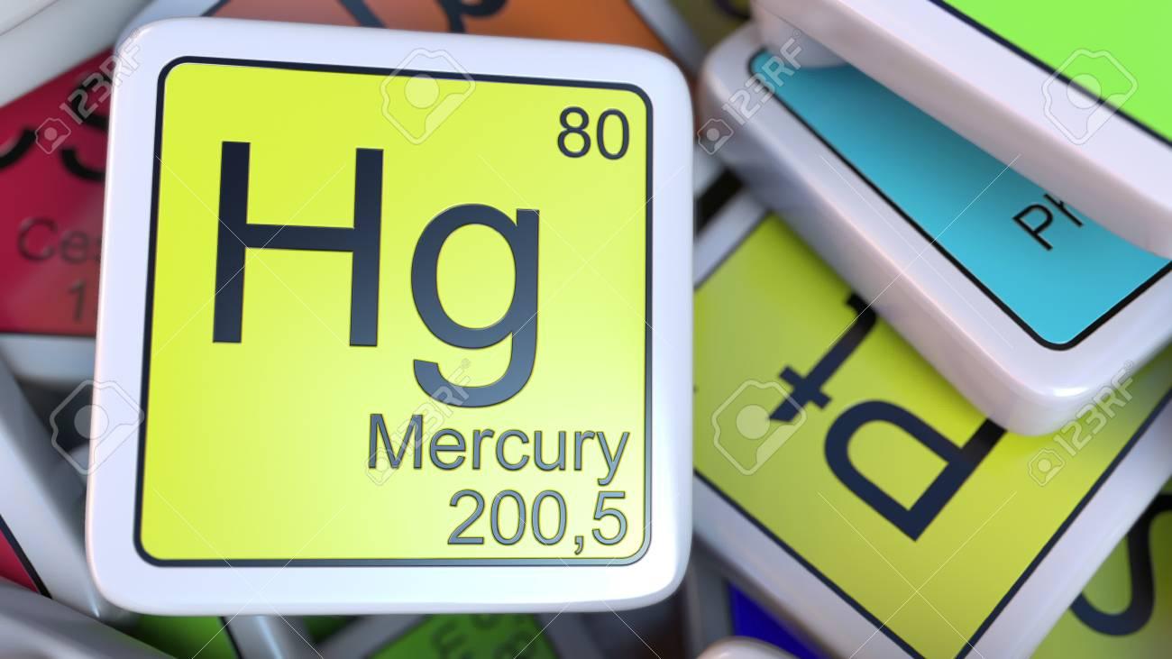 Bloque de mercurio hg en la pila de tabla peridica de los bloques bloque de mercurio hg en la pila de tabla peridica de los bloques de elementos qumicos urtaz Image collections