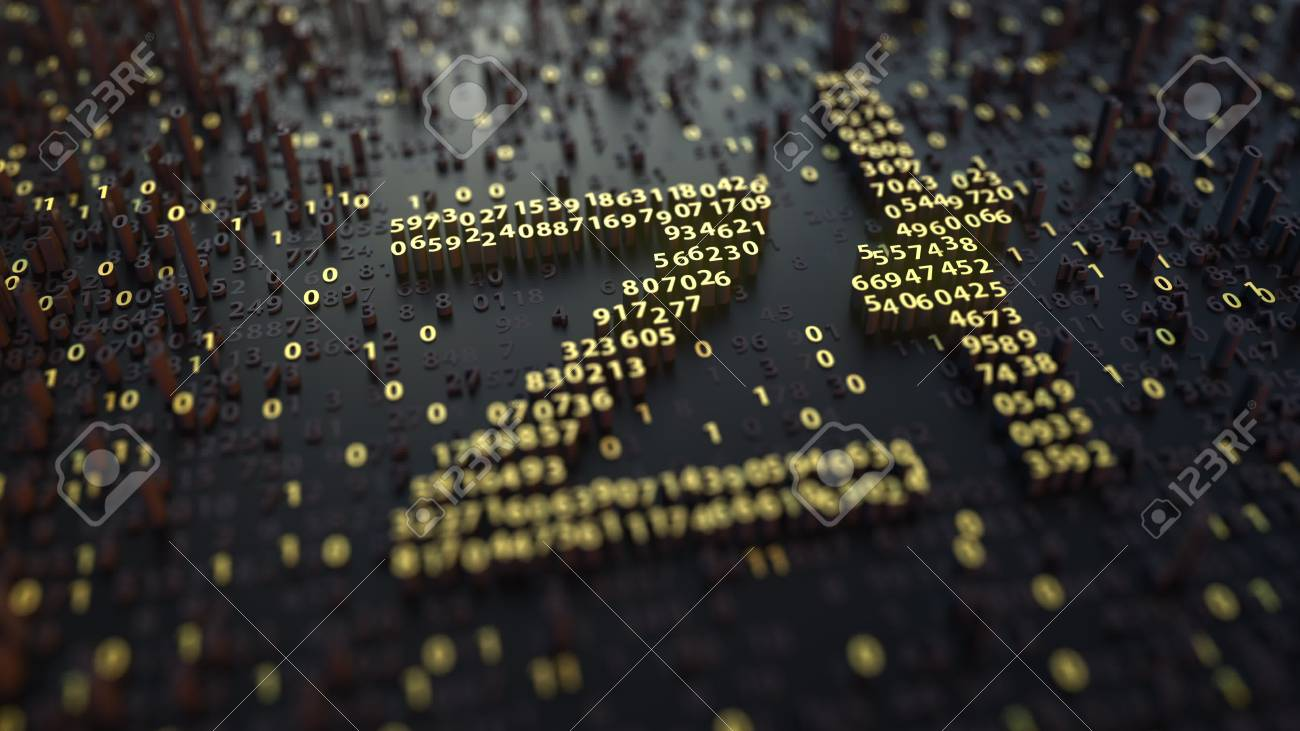 Polish Zloty Pln Symbol Made Of Numbers Stock Photo Picture And