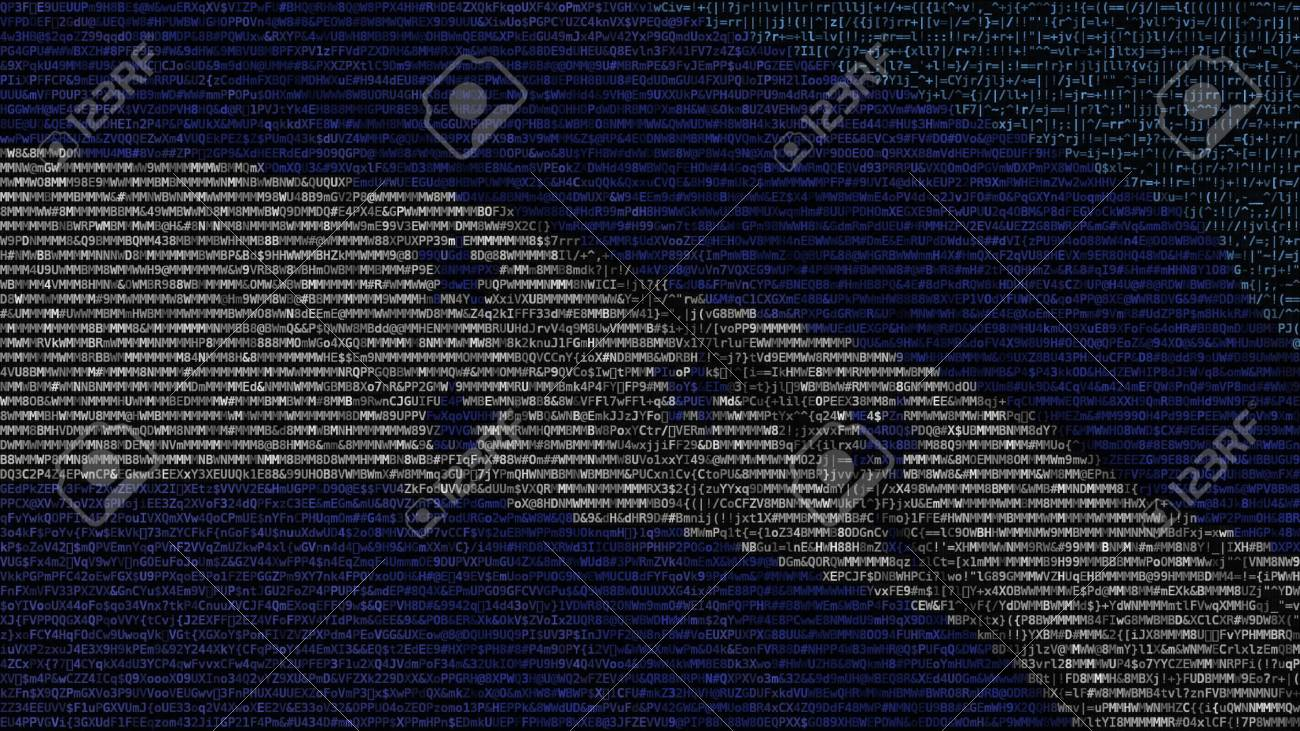 Waving Flag Of Honduras Made Of Text Symbols On A Computer Screen