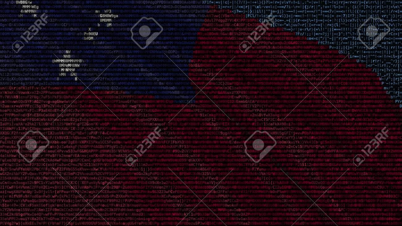 Waving Flag Of Samoa Made Of Text Symbols On A Computer Screen