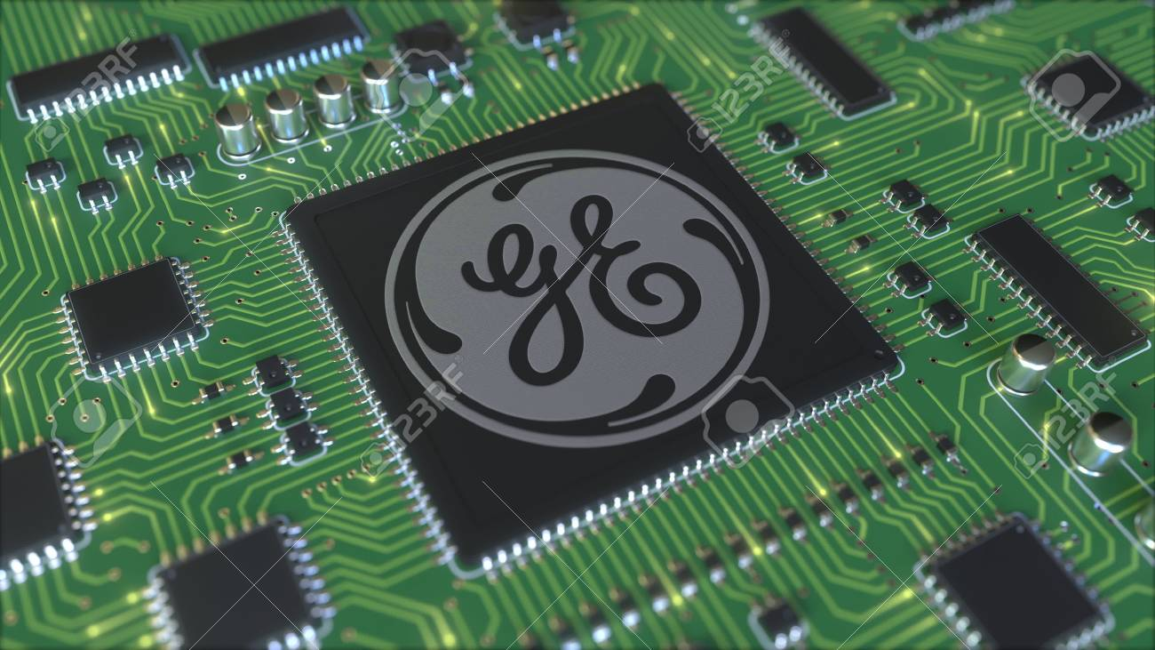 Computer printed circuit board or PCB with General Electric Company