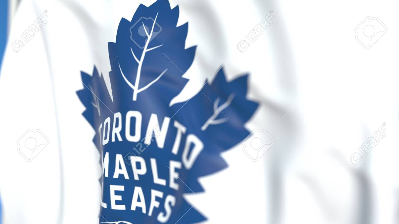 Waving Flag With Toronto Maple Leafs Nhl Hockey Team Logo Close Up Stock Photo Picture And Royalty Free Image Image 139138618