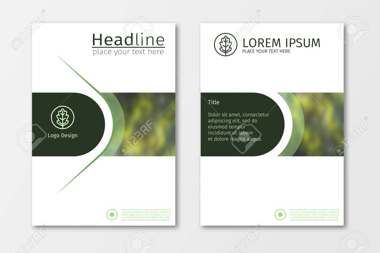 green annual report business brochure design template, leaflet, Presentation Abstract Template, Presentation templates