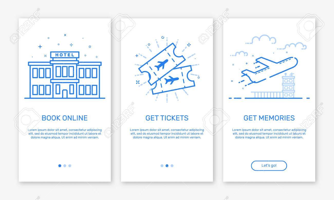 Vector Illustration Von Onboarding App Screens Und Web-Konzept Buch ...