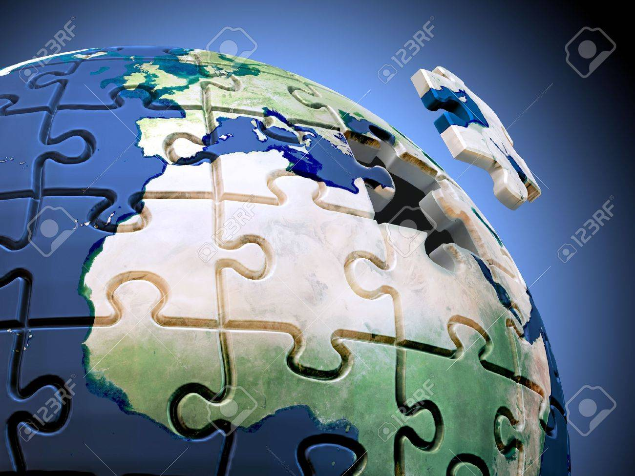Last piece of the puzzle a spherical jigsaw puzzle with the stock last piece of the puzzle a spherical jigsaw puzzle with the world map stock photo gumiabroncs Gallery
