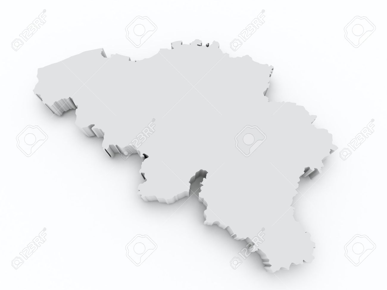 Belgium 3d Map Stock Photo Picture And Royalty Free Image Image