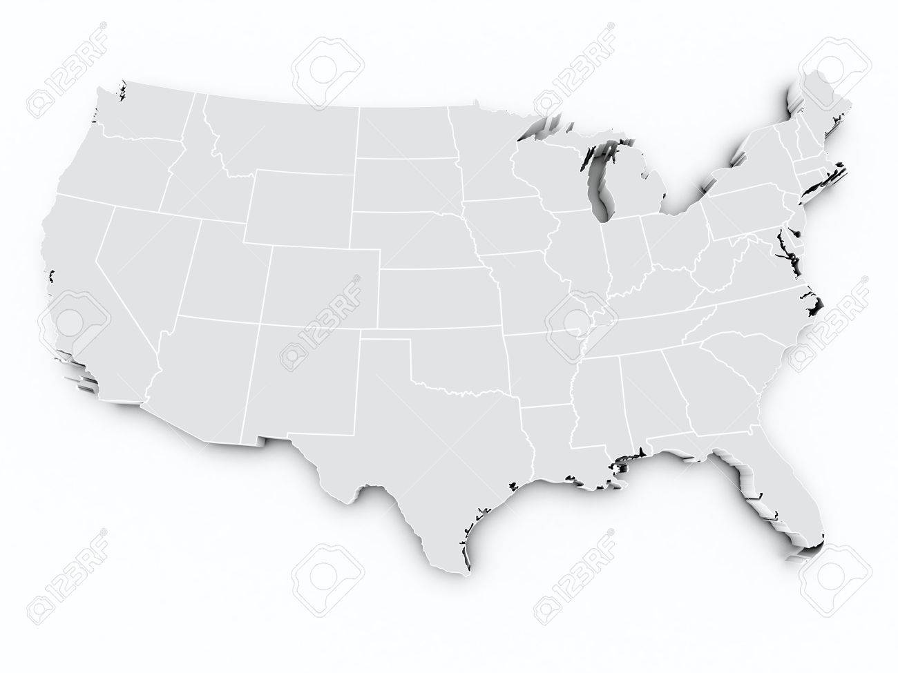 3d Map Of The United States - Free-3d-us-map