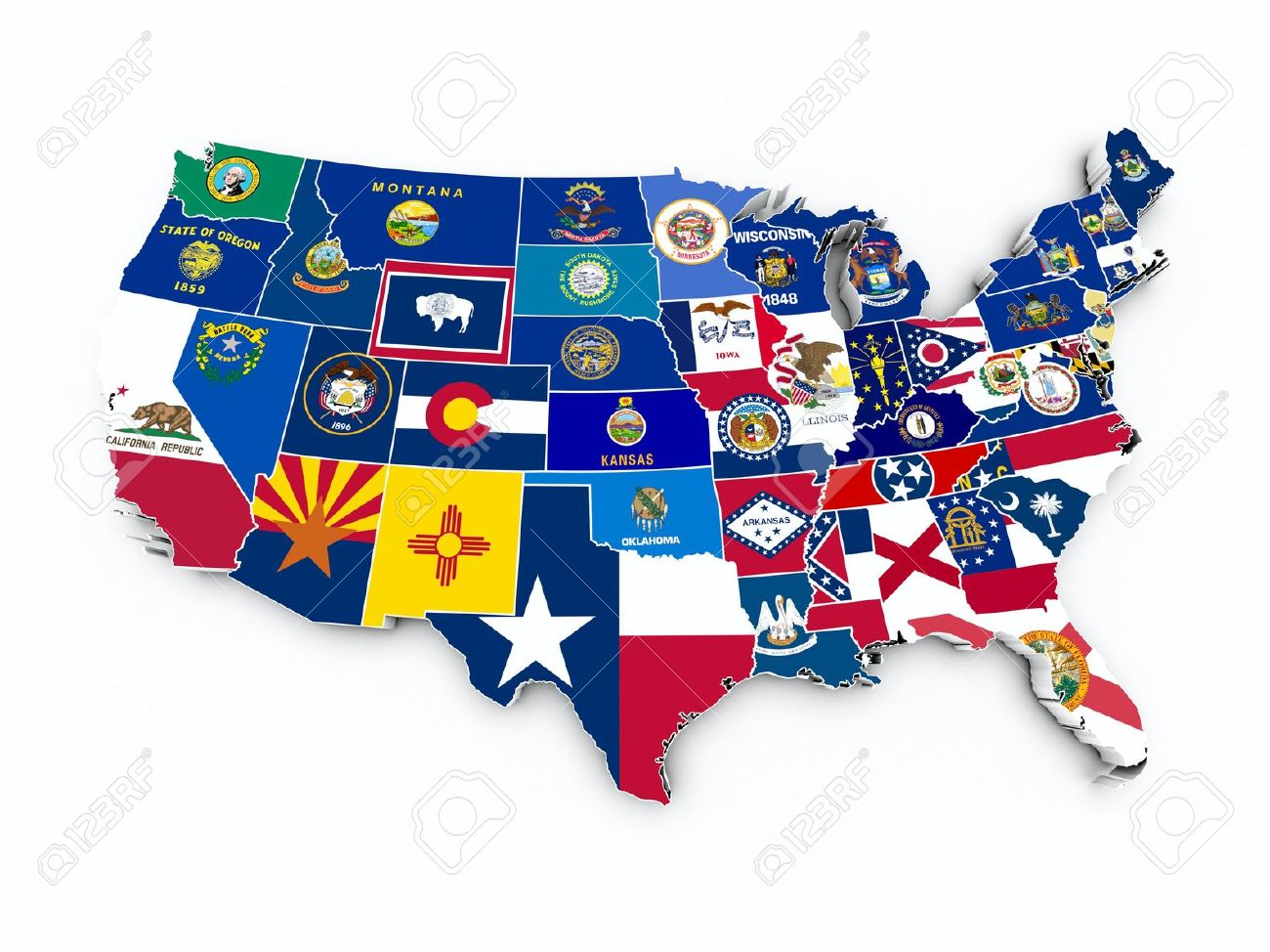 Midwest Usa Stock Photos Pictures Royalty Free Midwest Usa - Midwest usa map