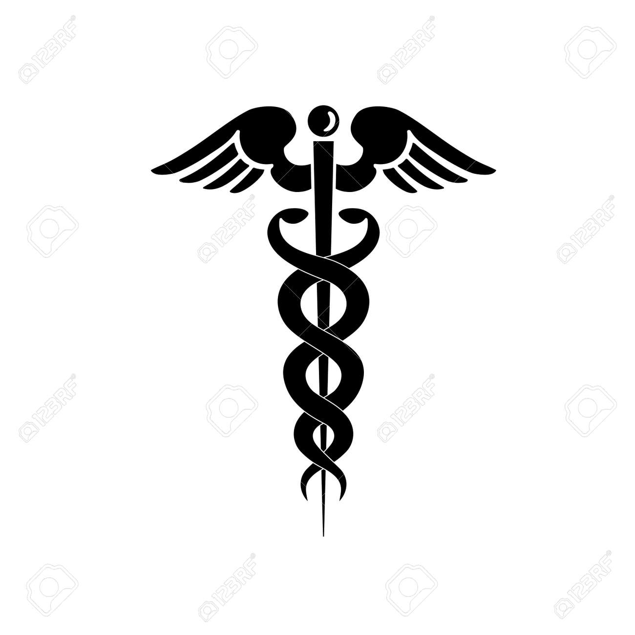 caduceus medical symbol stock photo picture and royalty free image rh 123rf com