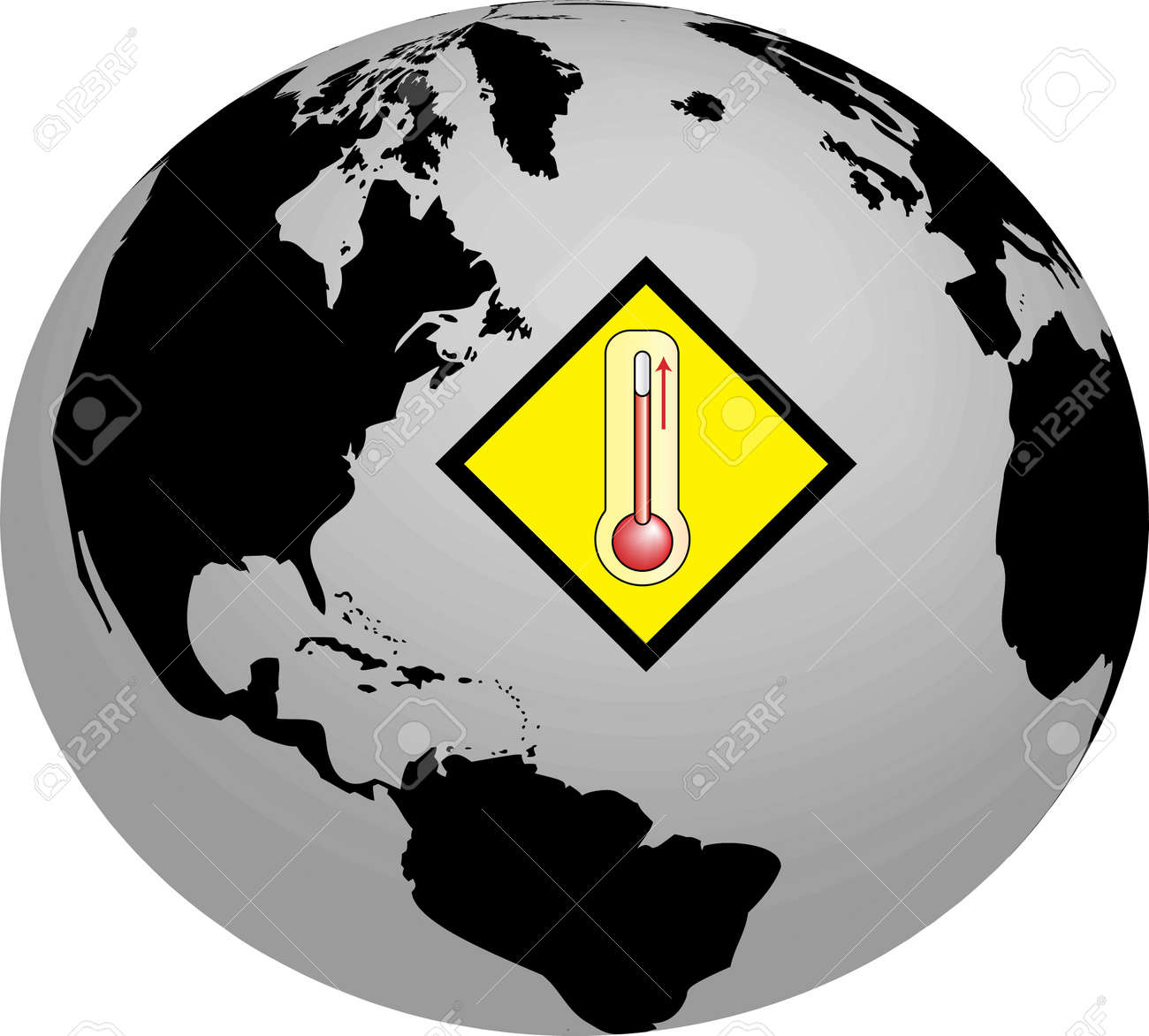 Global Warming Earth - Temperature Stock Photo - 4920424