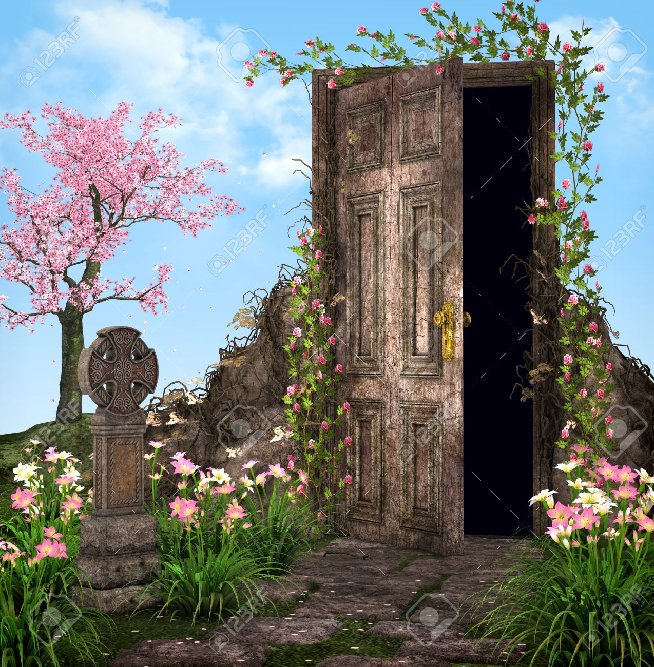 Enchanted garden illustration Stock Illustration - 11367271 & Enchanted Garden Illustration Stock Photo Picture And Royalty Free ...