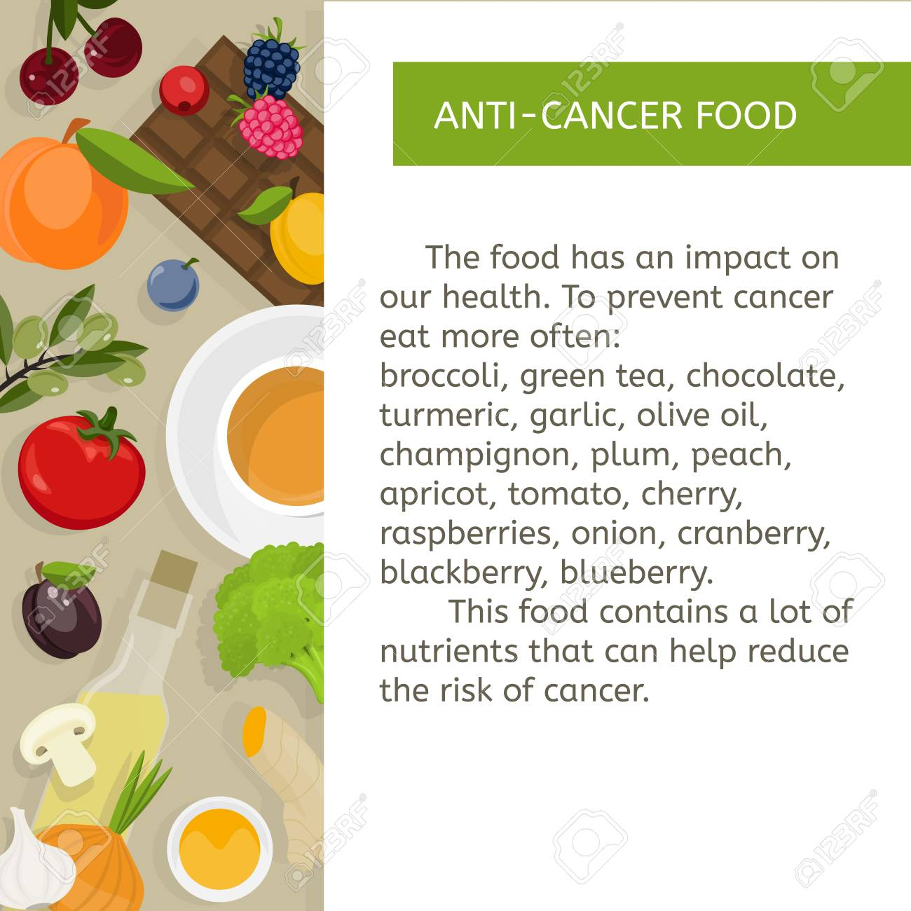 Food prevention of oncological diseases  Fruits, vegetables,