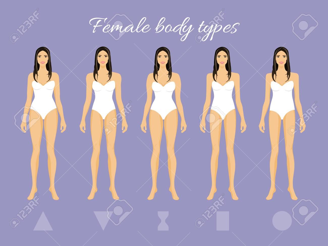 f18311c9c5 Conjunto De Formas De Cuerpo Femenino  Triángulo