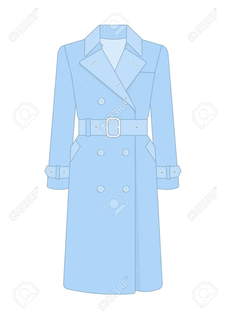7212c718c830 Foto de archivo - Gabardina para mujer con cinturón. Modelo de moda del  guardarropa de las mujeres.