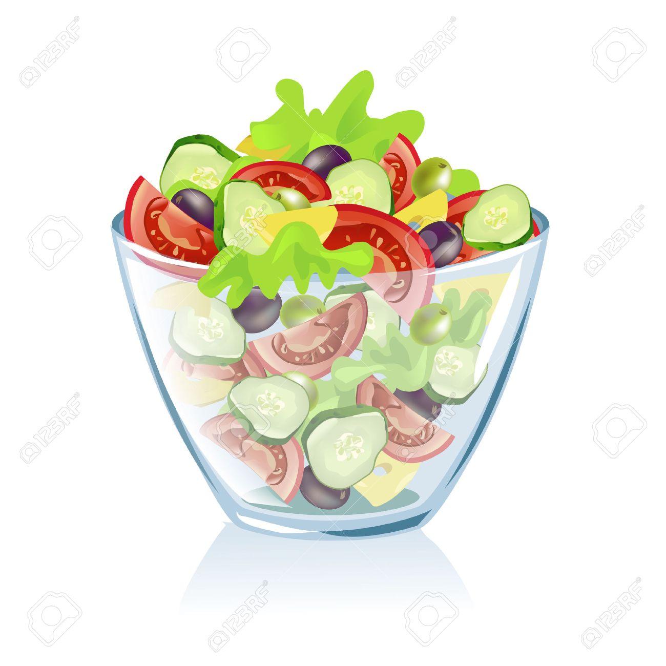 transparent dish with vegetables. vector illustration Standard-Bild - 26233913
