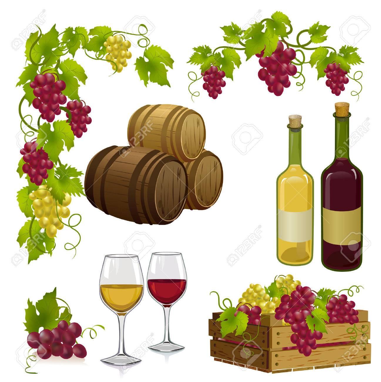 set for winemaking. Standard-Bild - 26546233