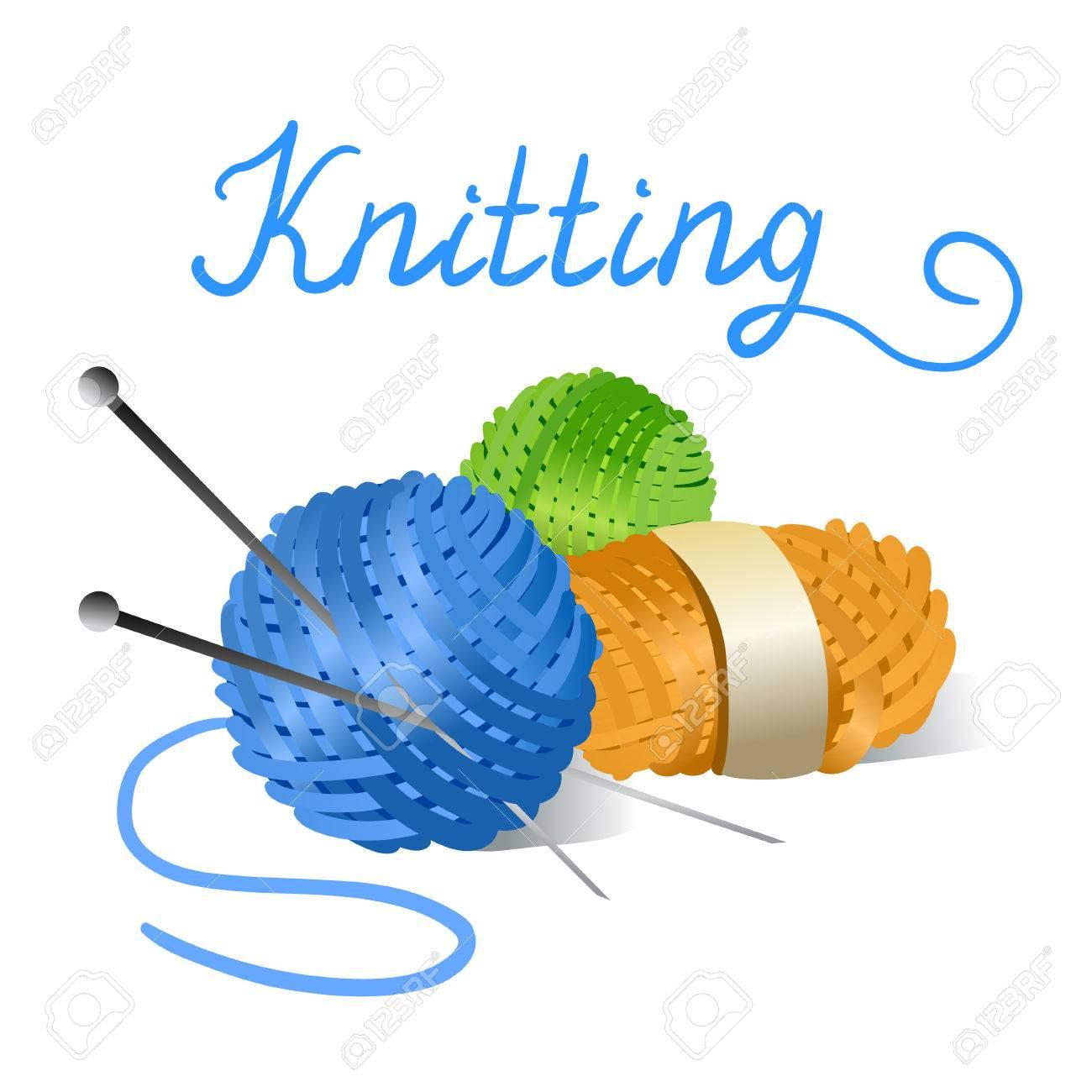 skein of yarn and knitting needles. Standard-Bild - 30094639