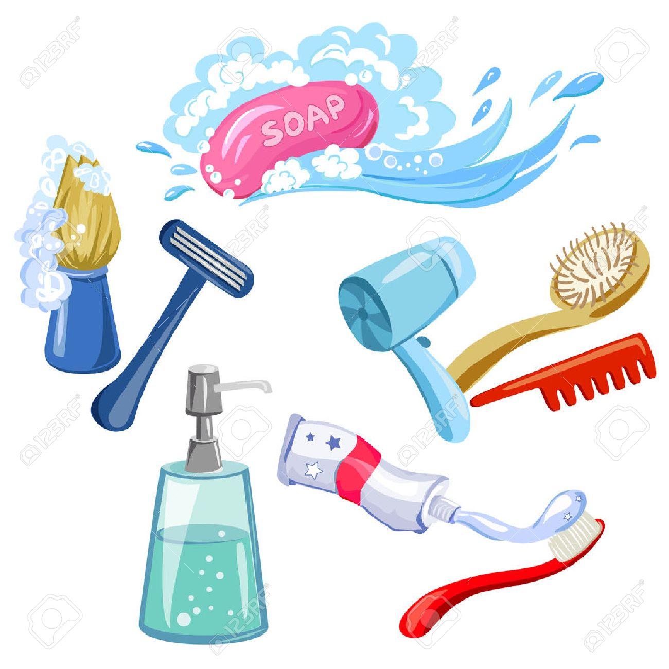 hygiene, personal care, items. vector illustration Standard-Bild - 31688496
