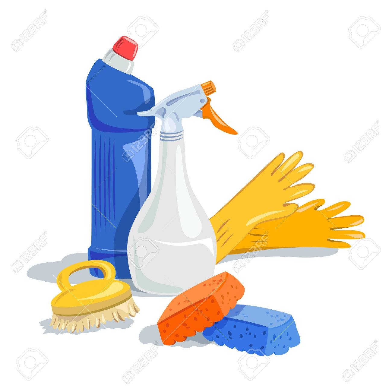 house cleaning, cleaning products. Standard-Bild - 51687220