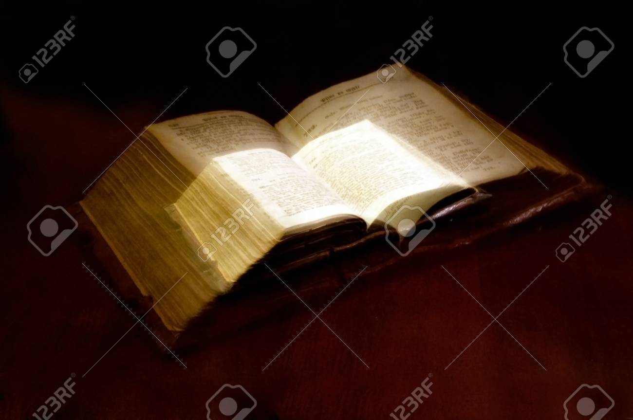 Old book: holy Bible Stock Photo - 10481229