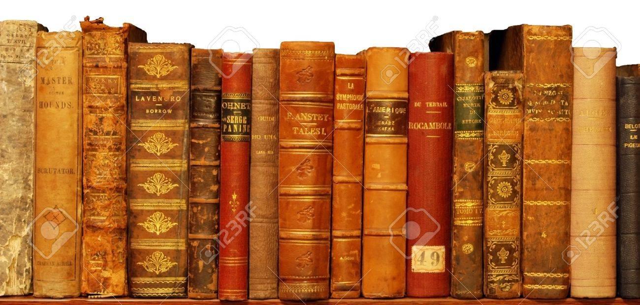 Tres Vieux Livre Dans La Bibliotheque Privee