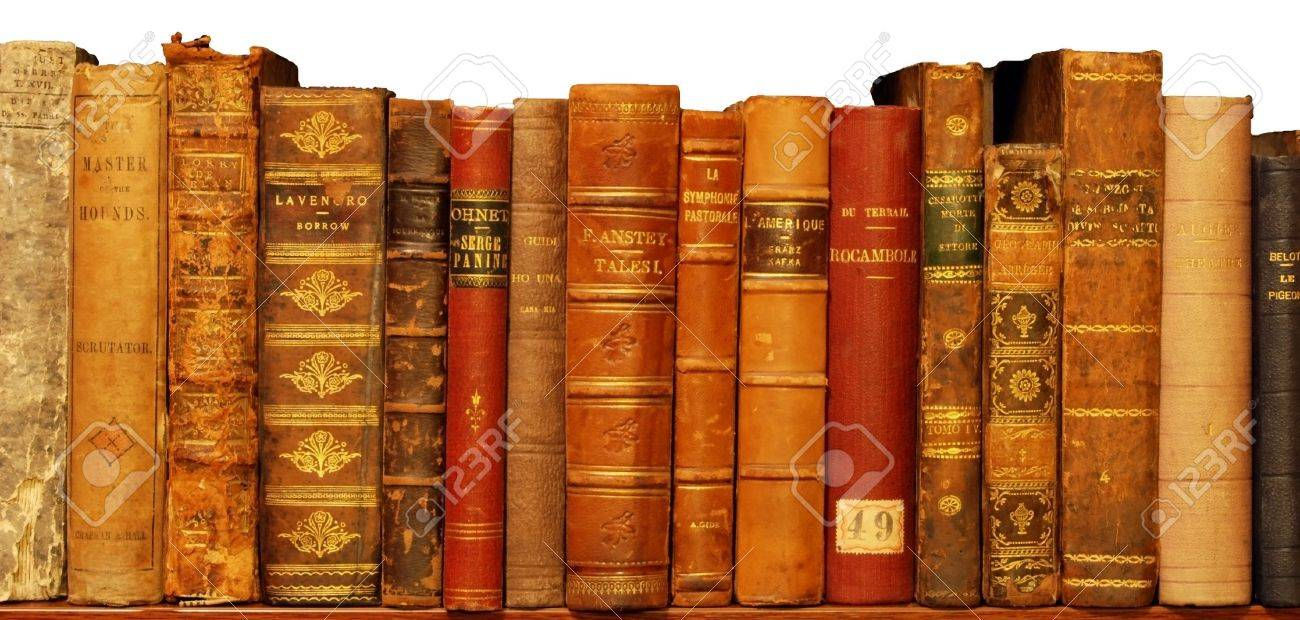 Very old book in private library Stock Photo - 10486119