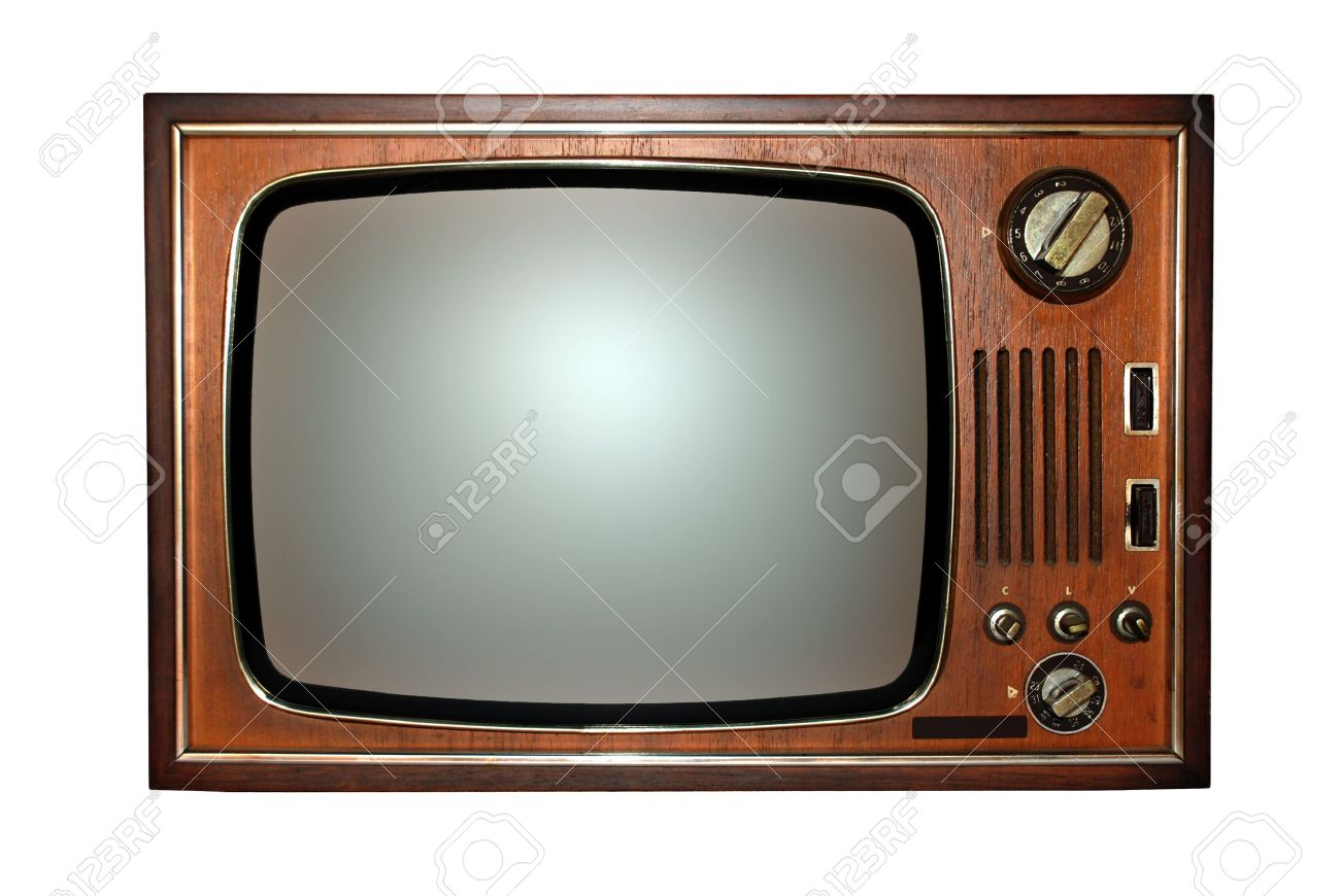 Vintage: old wooden television, tv Stock Photo - 10481068
