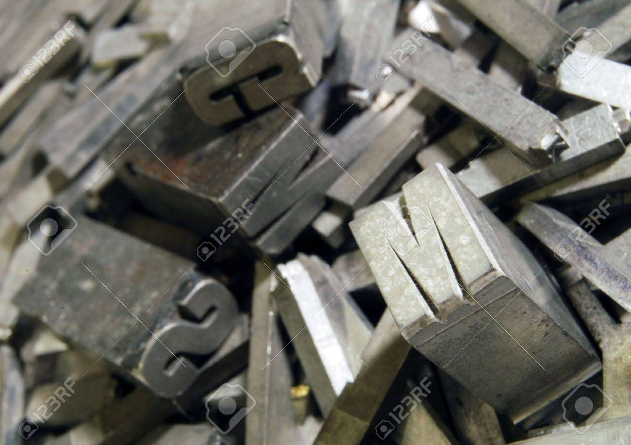 Lead: old letterpress type Stock Photo - 10518822