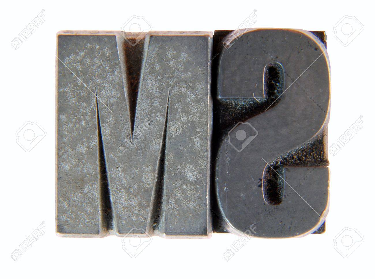 Lead: two old letterpress type Stock Photo - 10518823