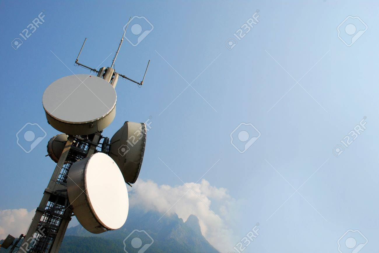 Communication cell tower for wireless technology: Gsm, Hsdpa, Umts, Gprs, Edge, Hsupa. Stock Photo - 10520579