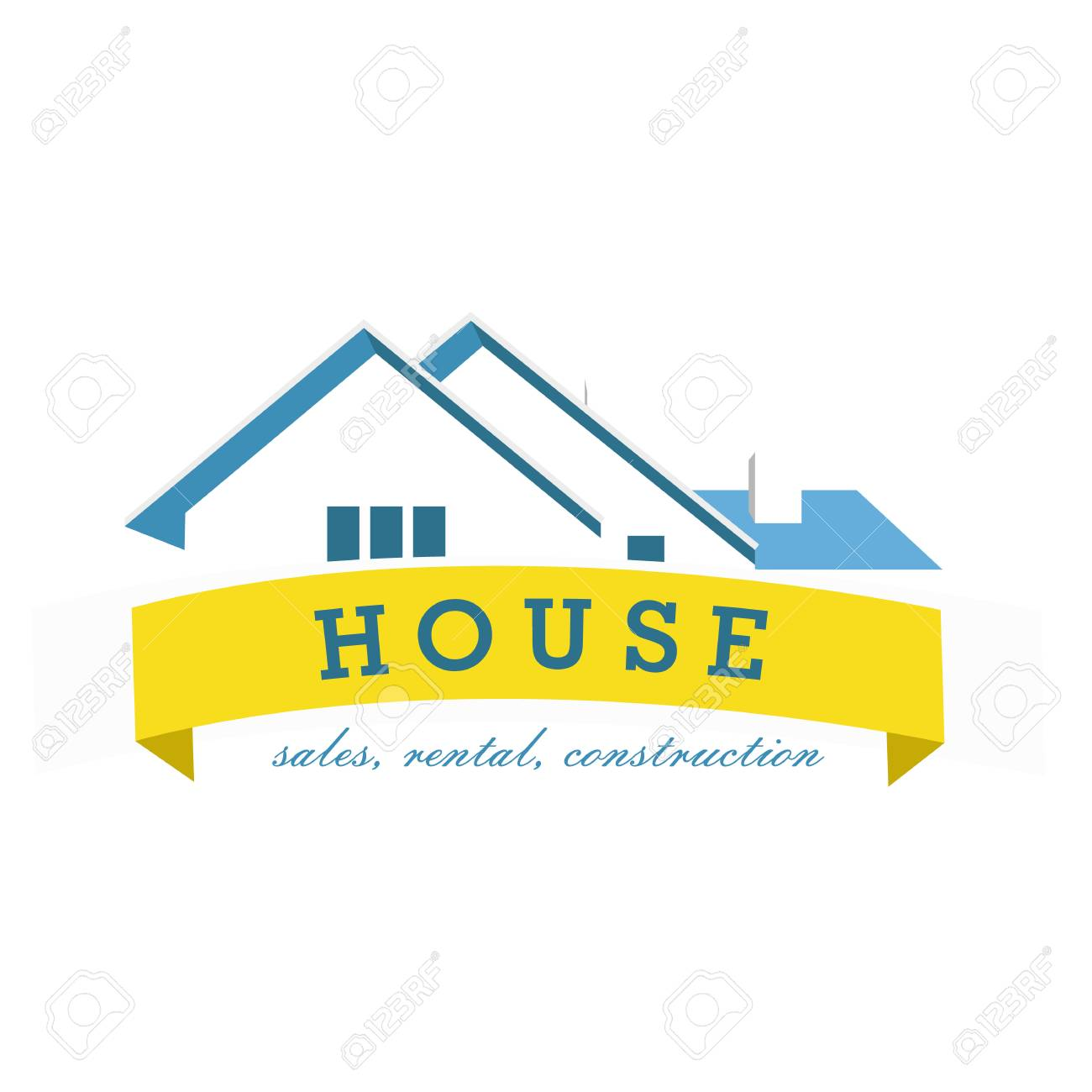 house logo design template realty theme icon building vector rh 123rf com architecture building design vector building design vector free download