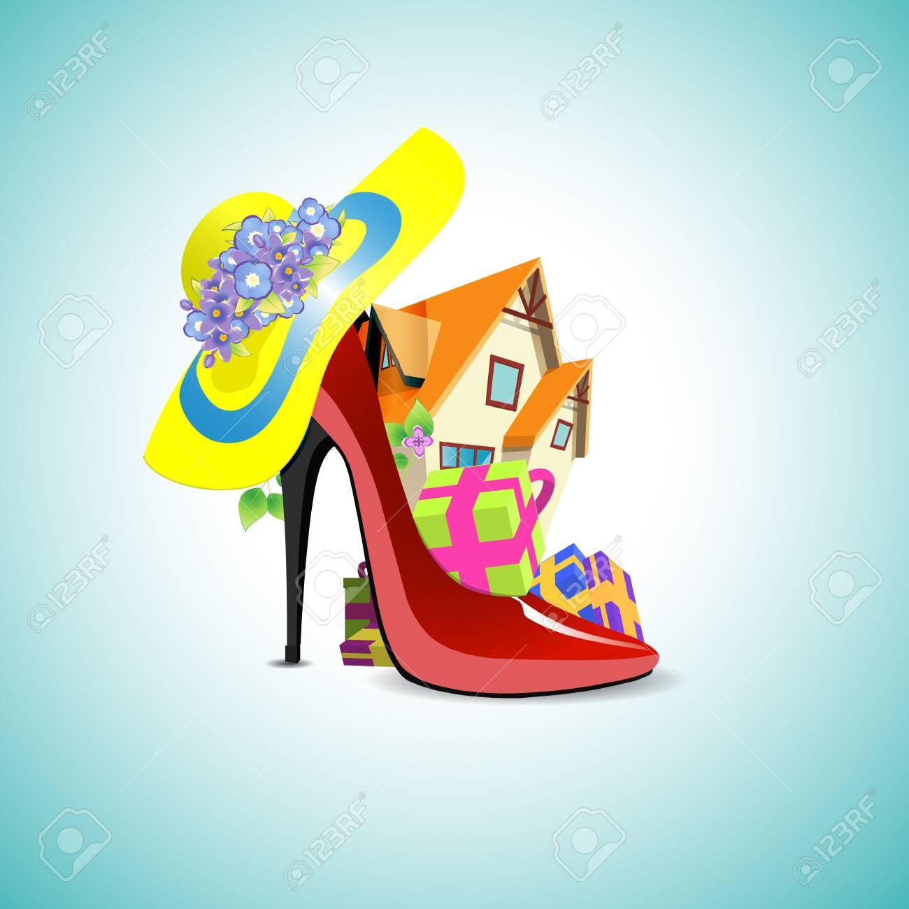 Regalo Per Architetto Femmina regalo per una celebrità, casa di campagna. casa nella scarpa donne con doni
