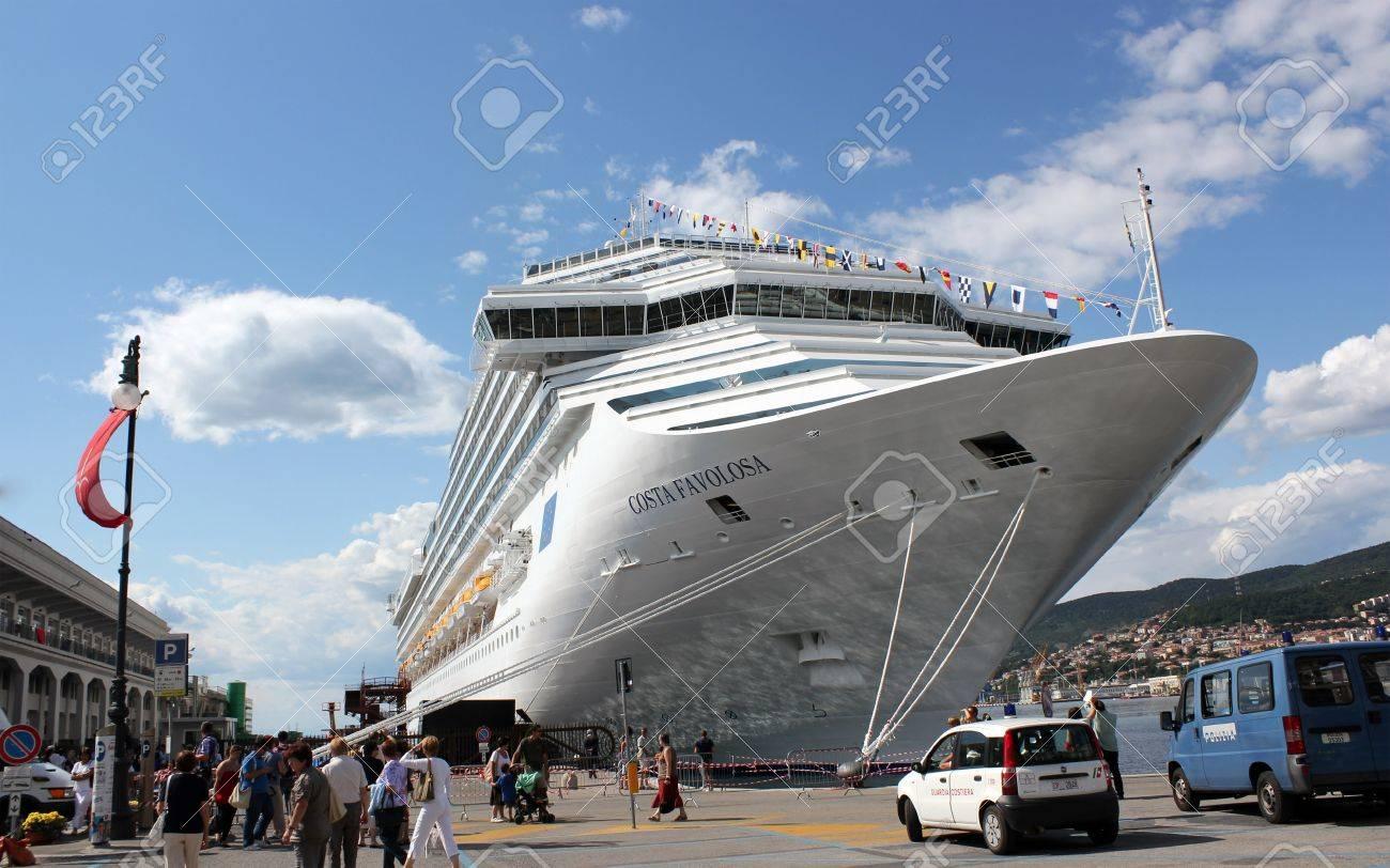 Trieste, ITA - 2 july 2011: Inauguration of the cruise ship Costa Favolosa in Trieste. Stock Photo - 13072929