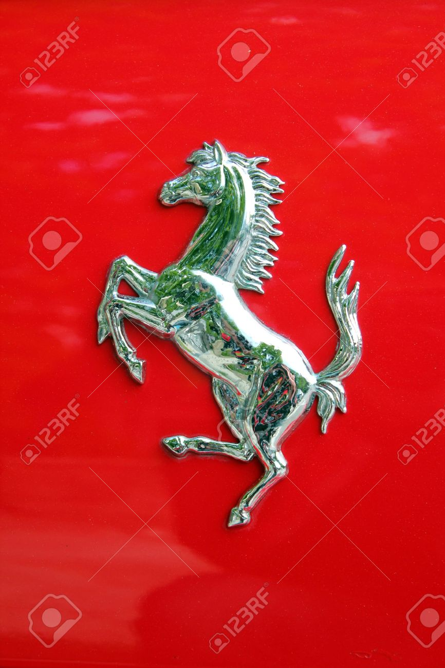 Ferrari logo on a car stock photo picture and royalty free image ferrari logo on a car stock photo 13111675 buycottarizona