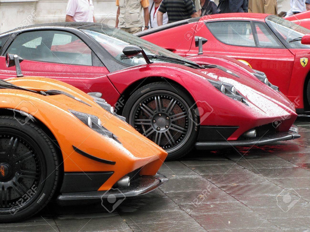 international rally of super sports cars in trieste in 2010 pagani zonda ferrari enzo stock - Ferrari Enzo 2010