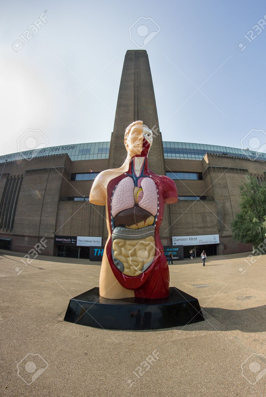 Giant statue of the human body in London Stock Photo - 15337390