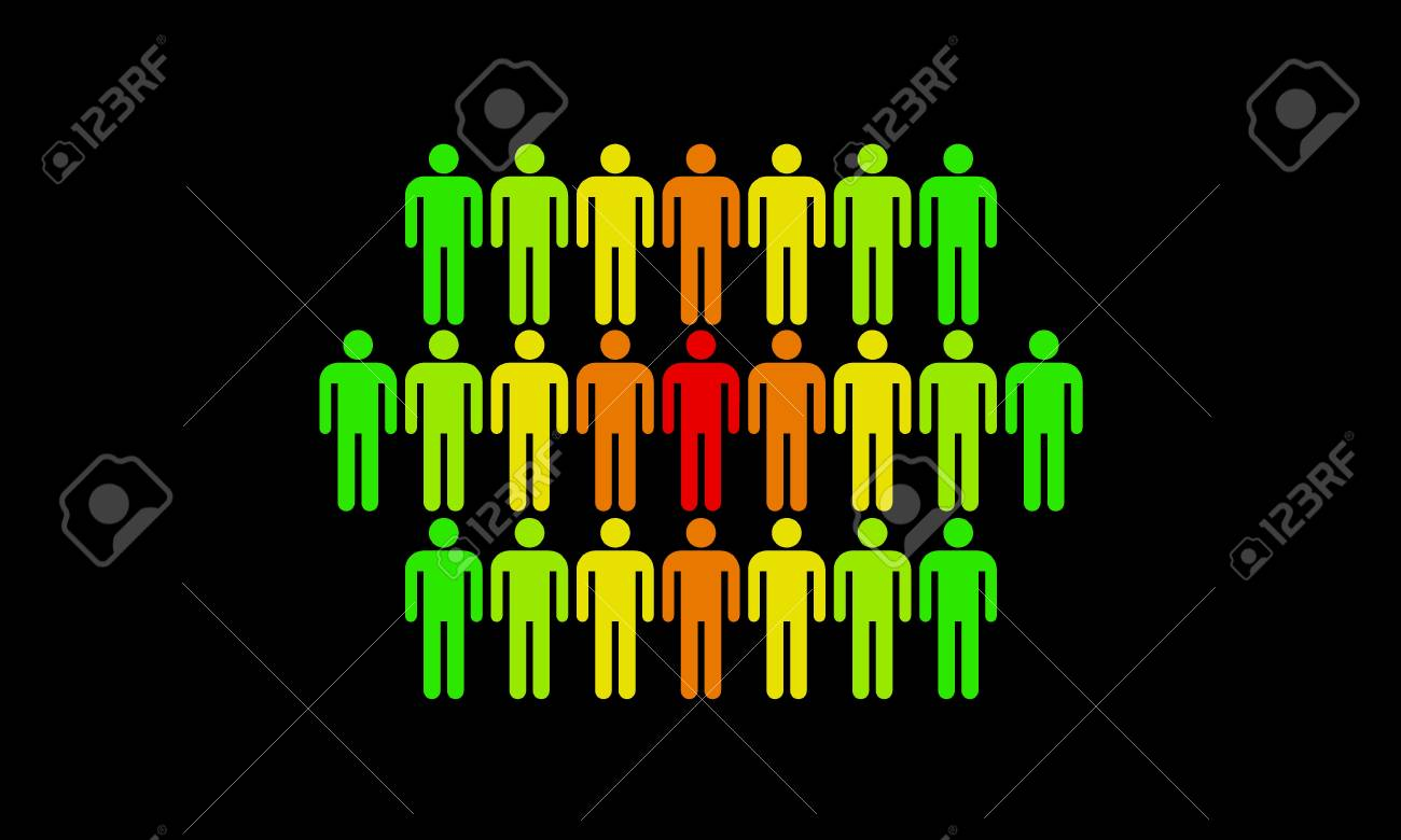 The man who stands out from the rest of the population Stock Photo - 16246887