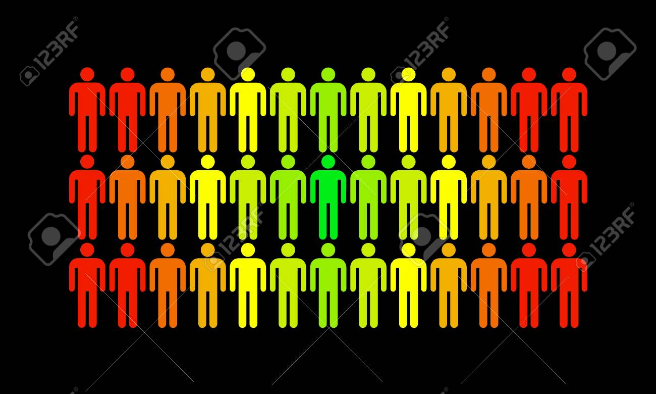 The man who stands out from the rest of the population Stock Photo - 16246898