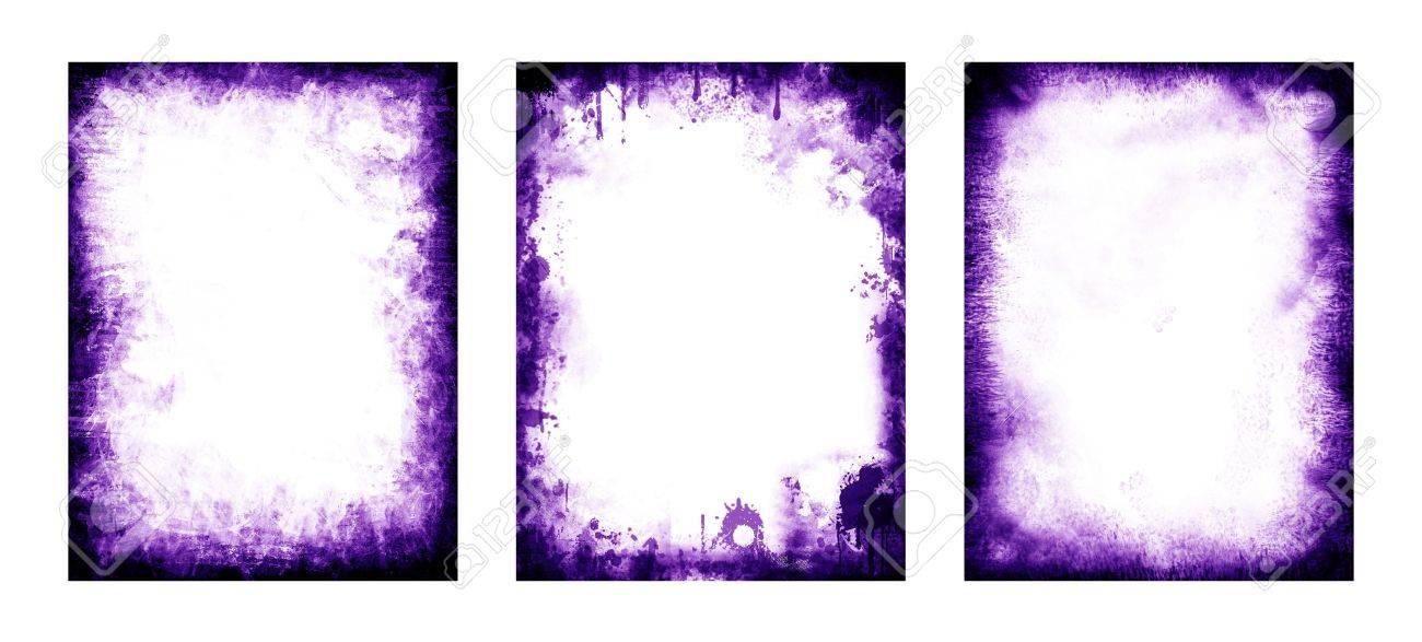 Conjunto De Marcos Y Patrones, 3 Elementos, Color Púrpura Fotos ...