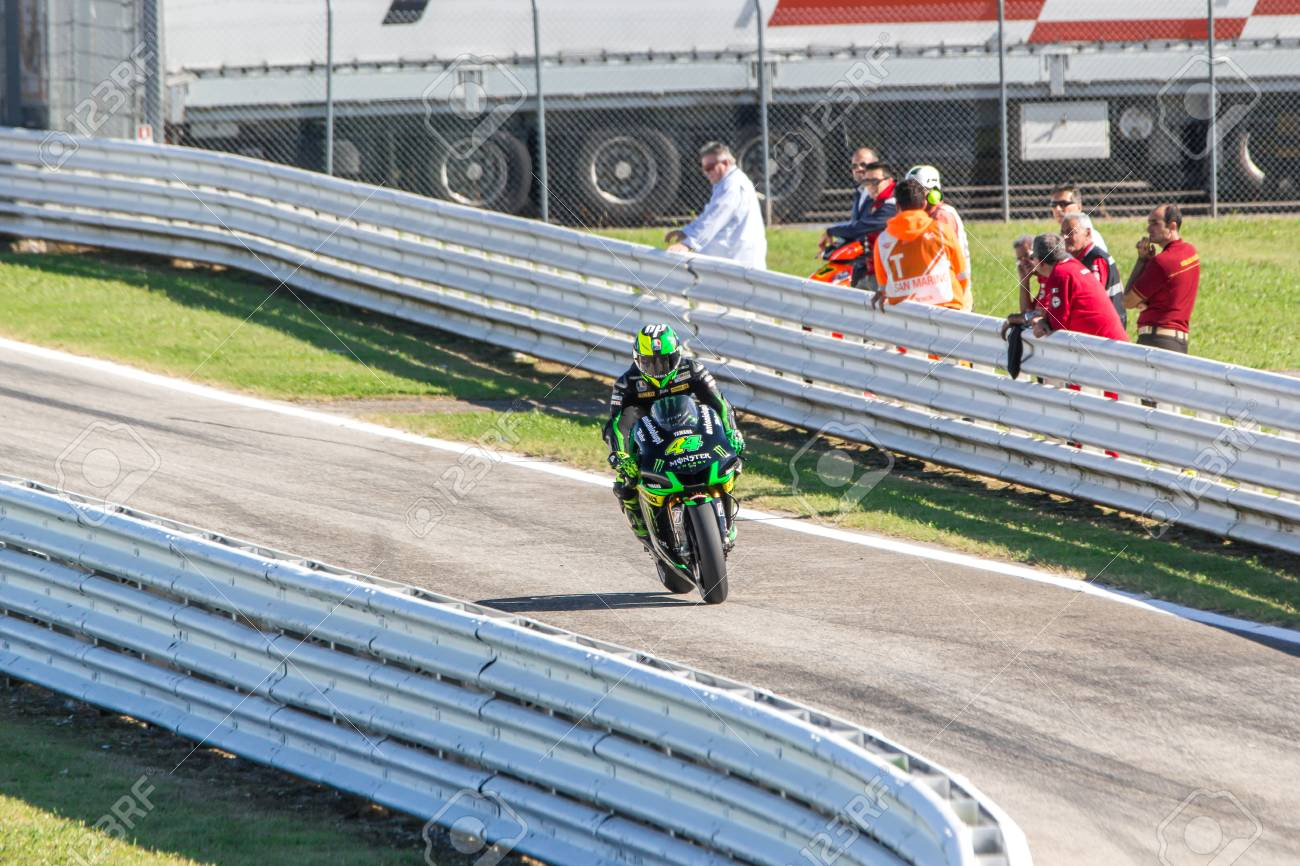 Pol Espargaro on Yamaha Monster Tech 3 team racing. Misano, September 14, 2014 - 31609021