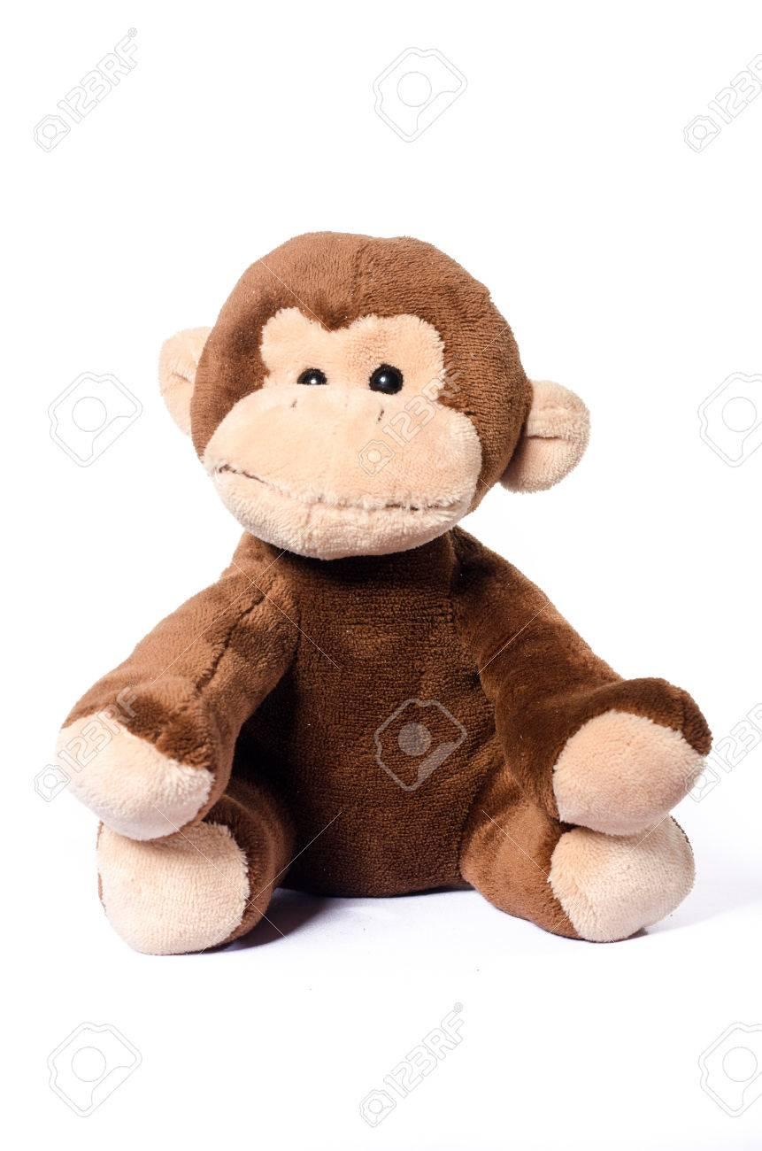 Diritti peluche scimmia molle giocattolo isolato Piccolo della da Libera bianco della su reodBCx