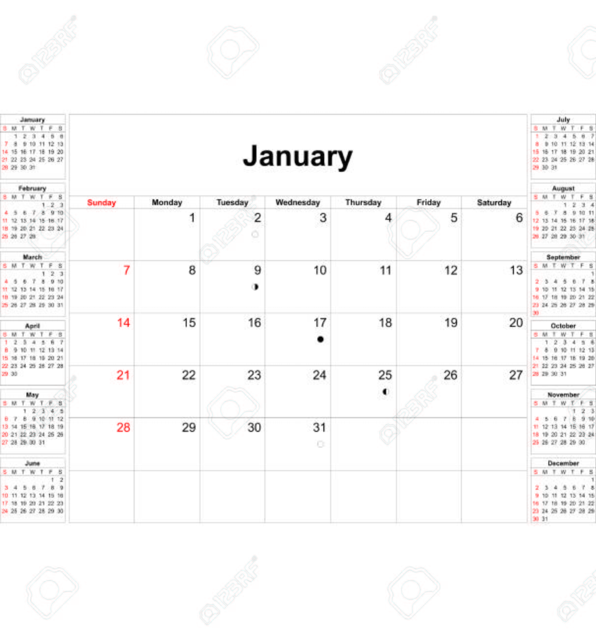 photo relating to Printable Calendar Months called English calendar template for calendar year 2018, mounted of 12 weeks, 7 days..