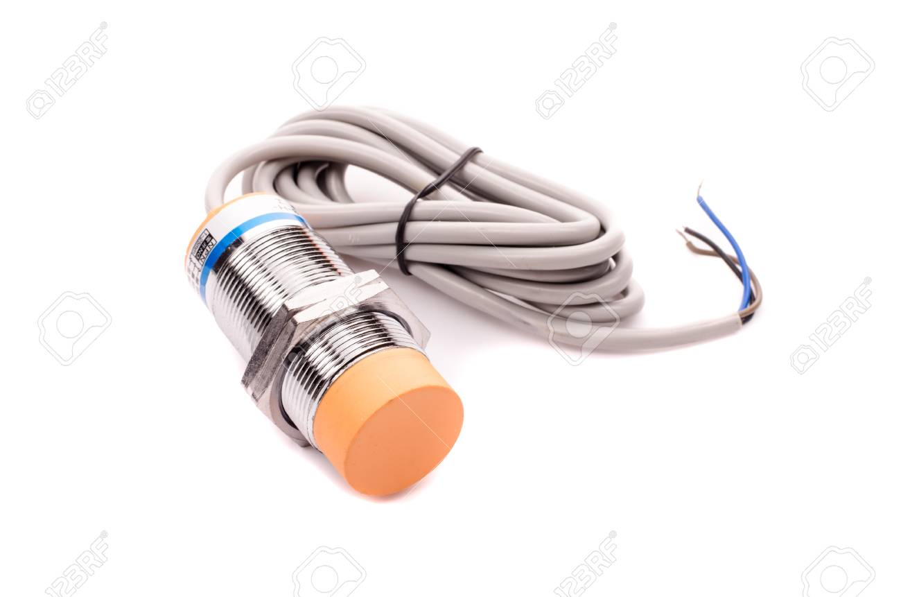 Inductive Proximity Sensor Or Switch Installed On The Sensors Wiring Switches Machine Stock Photo 98261787